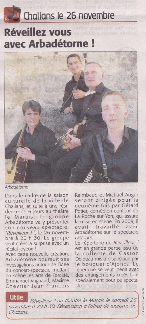 Courrier Vendéen du 17-11-11
